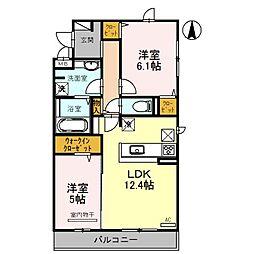 Eterna B棟[2階]の間取り