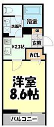 仙台市営南北線 北四番丁駅 徒歩13分の賃貸アパート 3階1Kの間取り