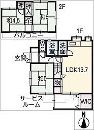 [一戸建] 愛知県あま市甚目寺飛殿 の賃貸【/】の間取り
