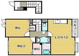 オーヴェスト1号館[2階]の間取り