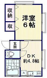 柏倉荘[2階]の間取り