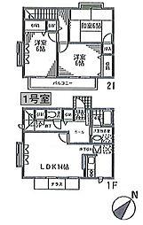 [テラスハウス] 神奈川県横浜市都筑区東山田1丁目 の賃貸【/】の間取り