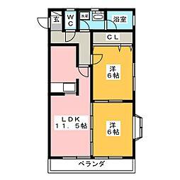 秋桜(COSMOS)[3階]の間取り