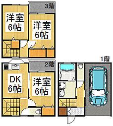 [テラスハウス] 埼玉県越谷市蒲生寿町 の賃貸【/】の間取り
