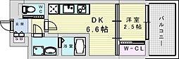 セレニテ三国プリエ 10階1DKの間取り