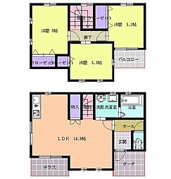 [一戸建] 福岡県福岡市博多区新和町2丁目 の賃貸【/】の間取り