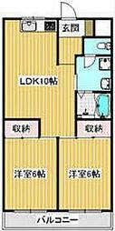 STマンションIII[302号室]の間取り