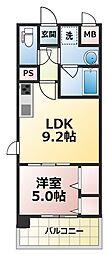 ラルシェパルク新大阪[11階]の間取り