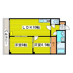 北海道札幌市東区北二十条東18丁目の賃貸マンションの間取り