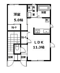 リ・アンジュ[2-102号室]の間取り