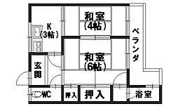 安喜荘[1階]の間取り