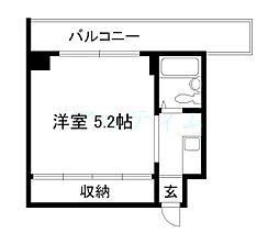 京都府京都市下京区西橋詰町の賃貸マンションの間取り