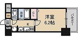 エステムコート新大阪6エキスプレイス[6階]の間取り