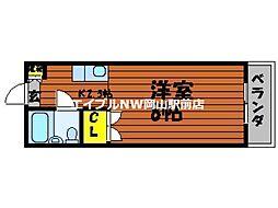 岡山県岡山市北区牟佐丁目なしの賃貸アパートの間取り