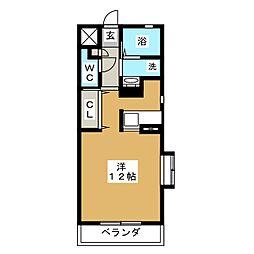 EKU'U SWEET 1[2階]の間取り