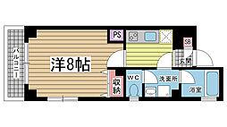 セントマルク神戸[301号室]の間取り
