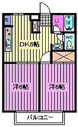 ヴィラージュ大和田[2階]の間取り