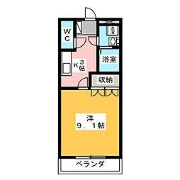 リバーサイド都[1階]の間取り