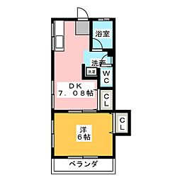 増井ハイツ[2階]の間取り