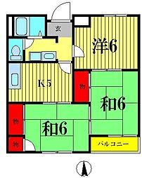 ジュネスワカバヤシ[1階]の間取り