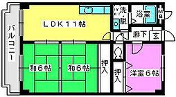 エントピア那珂川[3階]の間取り