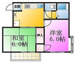 畠山ハイツ[1階]の間取り