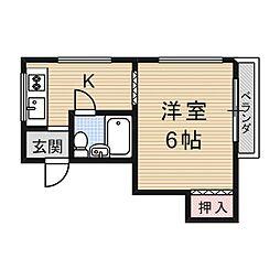 皐月マンション[3階]の間取り