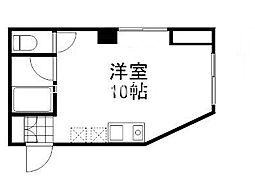 シティハウス岡山西口[1階]の間取り