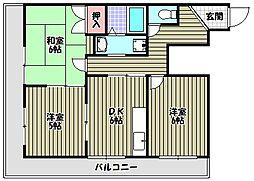 レジデンス光[2階]の間取り
