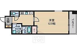 レフィーナカルム江坂[14階]の間取り