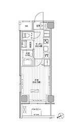 JR総武線 浅草橋駅 徒歩2分の賃貸マンション 10階1Kの間取り