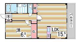 フィオーレ 1階1LDKの間取り