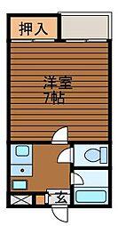東京都町田市成瀬7丁目の賃貸アパートの間取り