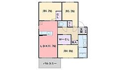 福岡県福岡市西区富士見3丁目の賃貸アパートの間取り