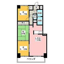 悠和苑[5階]の間取り