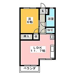 高木ビル[1階]の間取り