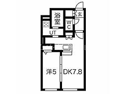 CITY RESIDENCE幌平橋 4階1LDKの間取り