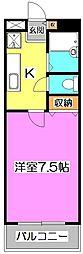 JC STATION 〜ジェーシー ステーション〜[3階]の間取り