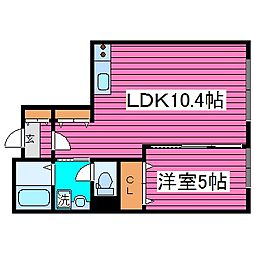 北海道札幌市東区北四十七条東2丁目の賃貸アパートの間取り