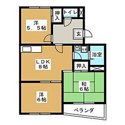カーサOBATA[3階]の間取り