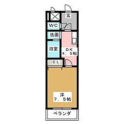 サンシティ栄生[1階]の間取り
