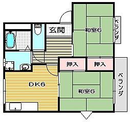 メゾンフラテS棟[1階]の間取り