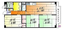奥田ビル壱号館[3階]の間取り