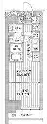 都営新宿線 菊川駅 徒歩11分の賃貸マンション 2階1DKの間取り