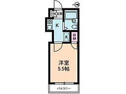 フラット ジュン[1階]の間取り