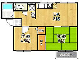 メゾン・ド・ボネール1[1階]の間取り