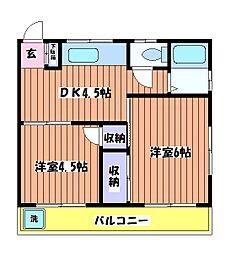 ハイツタケミ[2階]の間取り