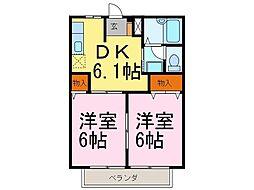 ジュネス早川[203号室]の間取り