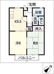ハウスバンブ[2階]の間取り
