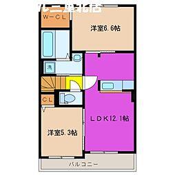 三重県四日市市天カ須賀2丁目の賃貸アパートの間取り